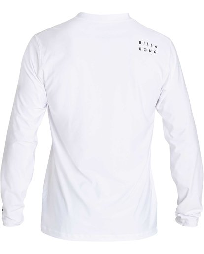 1 Stacked Loose Fit Long Sleeve Rashguard White MR63NBST Billabong