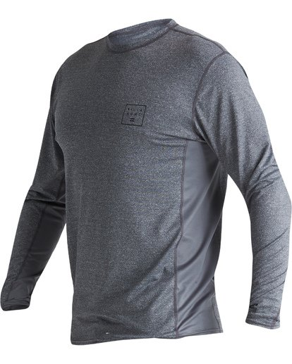 0 Arch Mesh Loose Fit Long Sleeve Surf Shirt Grey MR681BAR Billabong