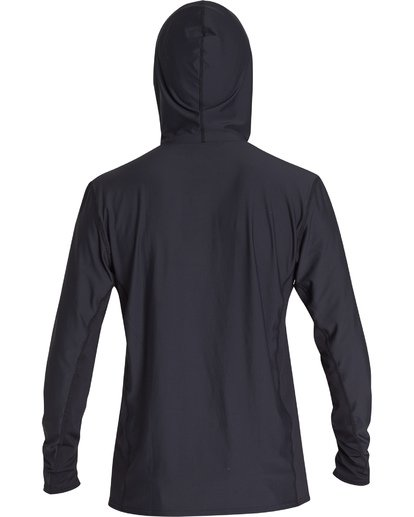 1 Arch Mesh Hooded Loose Fit Long Sleeve Surf Shirt Black MR691BAR Billabong