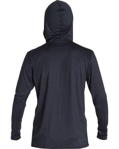 1 All Day Wave Loose Fit Long Sleeve Zip Hooded Surf Shirt Black MR701BAL Billabong