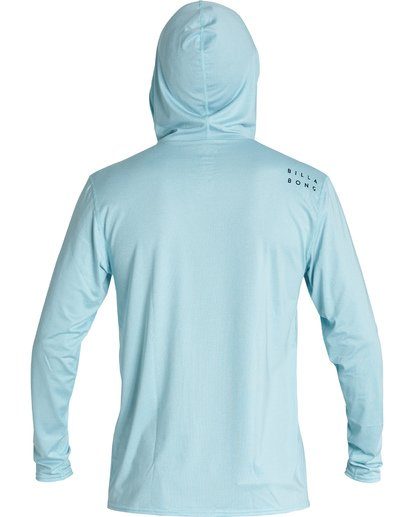 1 All Day Wave Loose Fit Long Sleeve Zip Hooded Surf Shirt Blue MR701BAL Billabong