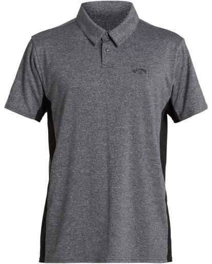 0 Arch Loose Fit Mesh Polo Short Sleeve Grey MR713BAR Billabong
