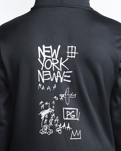 3 Basquiat Thermal Fleece Hoodie Black MSN6VBBH Billabong