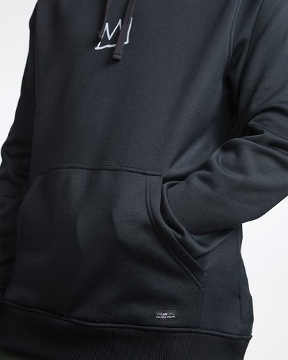 4 Basquiat Thermal Fleece Hoodie Black MSN6VBBH Billabong