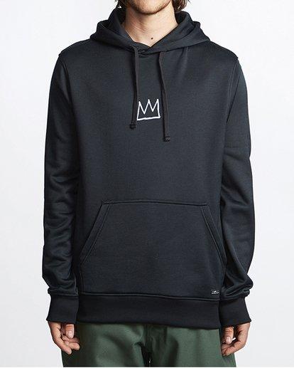 0 Basquiat Thermal Fleece Hoodie Black MSN6VBBH Billabong