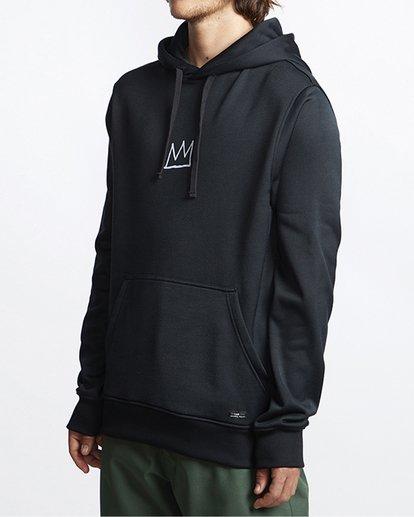 2 Basquiat Thermal Fleece Hoodie Black MSN6VBBH Billabong