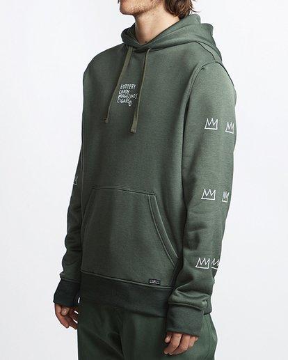 1 Basquiat Thermal Fleece Hoodie Green MSN6VBBH Billabong