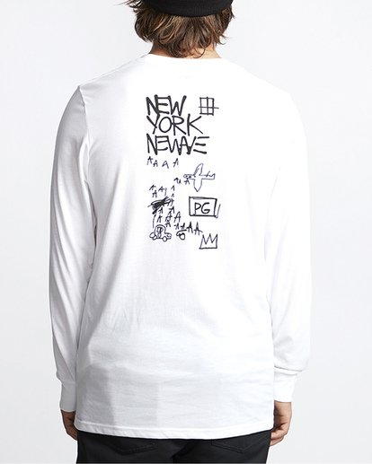 3 Basquiat Long Sleeve Thermal White MSN9VBTT Billabong