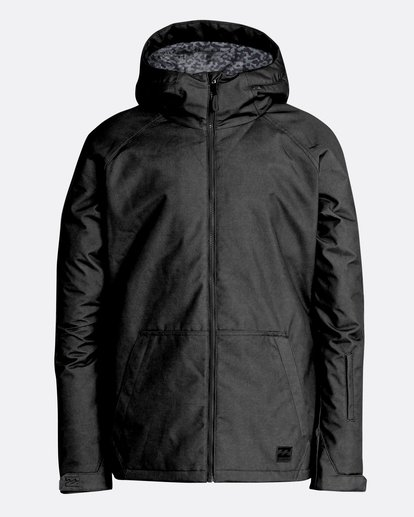 0 Men's All Day Solid Outerwear Jacket Black MSNJQADI Billabong