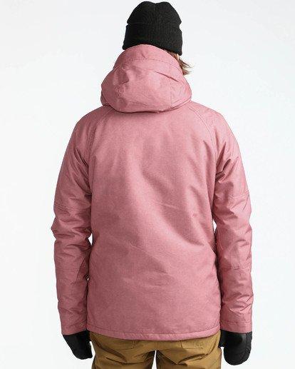 6 Men's All Day Solid Outerwear Jacket Brown MSNJQADI Billabong