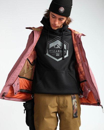 7 Men's All Day Solid Outerwear Jacket Brown MSNJQADI Billabong