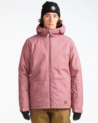 2 Men's All Day Solid Outerwear Jacket Brown MSNJQADI Billabong