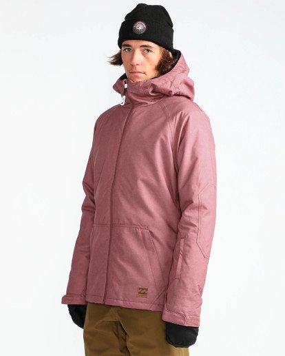 3 Men's All Day Solid Outerwear Jacket Brown MSNJQADI Billabong