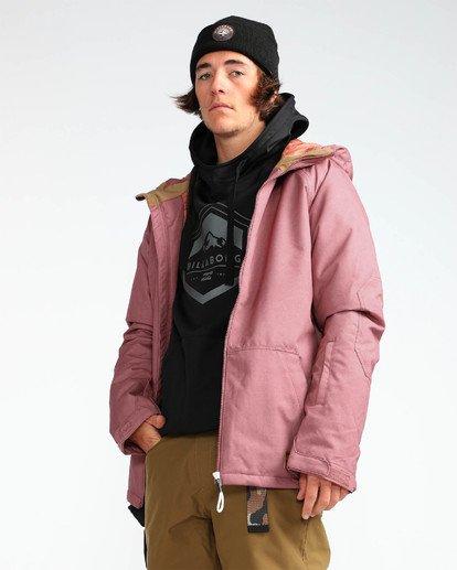 5 Men's All Day Solid Outerwear Jacket Brown MSNJQADI Billabong