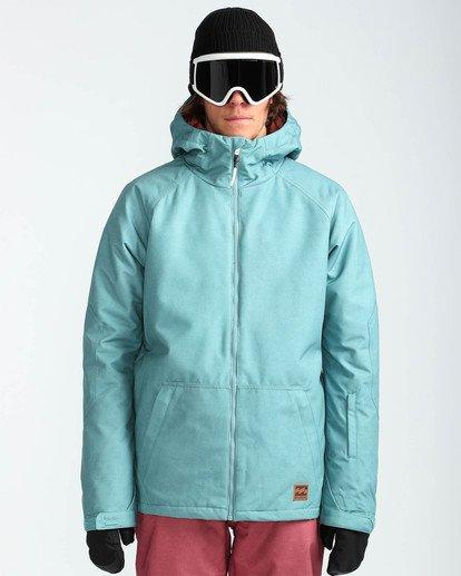2 Men's All Day Solid Outerwear Jacket Blue MSNJQADI Billabong