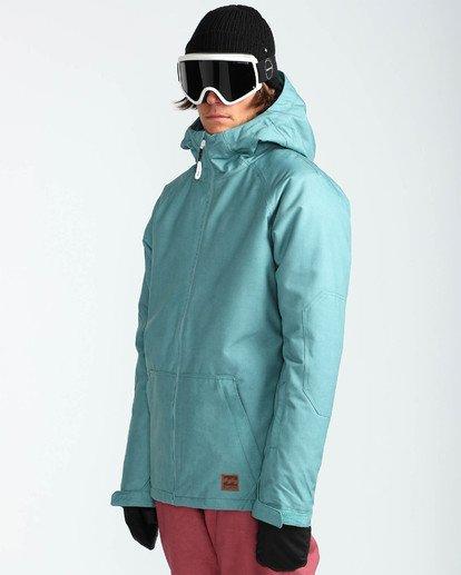 3 Men's All Day Solid Outerwear Jacket Blue MSNJQADI Billabong