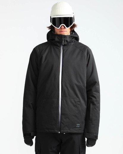 1 Men's All Day Solid Outerwear Jacket Black MSNJQADI Billabong