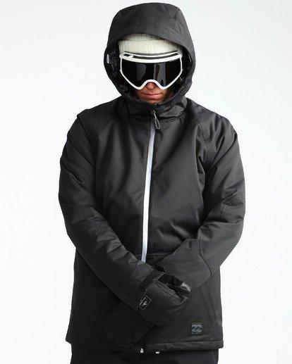 6 Men's All Day Solid Outerwear Jacket Black MSNJQADI Billabong