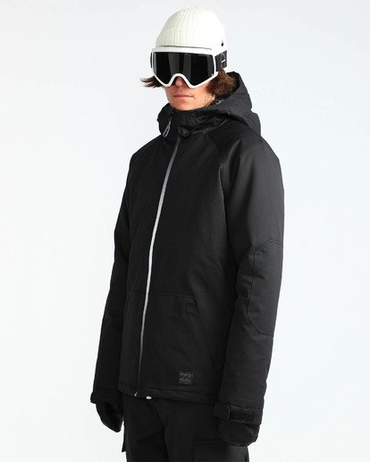 2 Men's All Day Solid Outerwear Jacket Black MSNJQADI Billabong