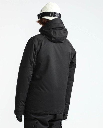 3 Men's All Day Solid Outerwear Jacket Black MSNJQADI Billabong