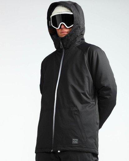4 Men's All Day Solid Outerwear Jacket Black MSNJQADI Billabong