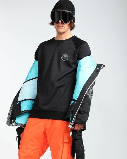 7 Men's All Day Solid Outerwear Jacket Grey MSNJQADI Billabong