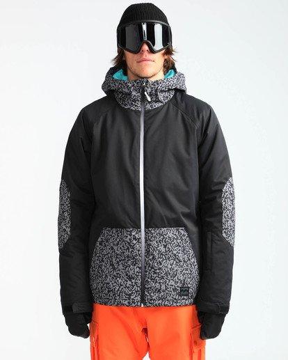 2 Men's All Day Solid Outerwear Jacket Grey MSNJQADI Billabong