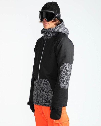 3 Men's All Day Solid Outerwear Jacket Grey MSNJQADI Billabong