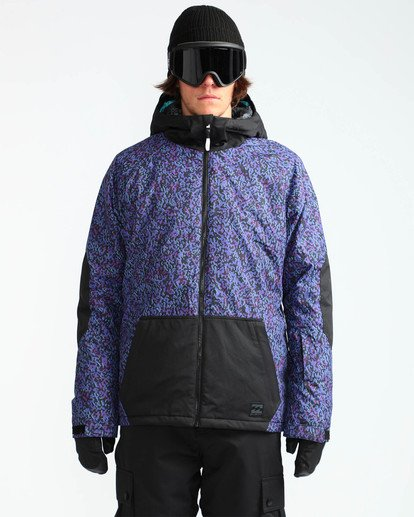 2 Men's All Day Solid Outerwear Jacket Purple MSNJQADI Billabong