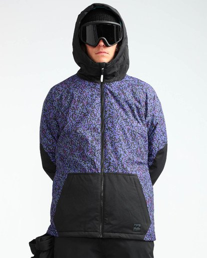 7 Men's All Day Solid Outerwear Jacket Purple MSNJQADI Billabong