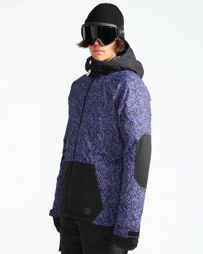 3 Men's All Day Solid Outerwear Jacket Purple MSNJQADI Billabong