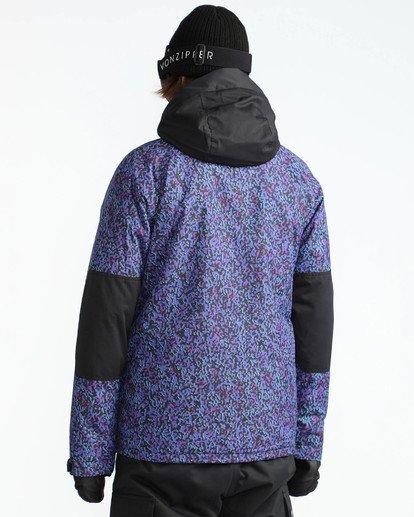 4 Men's All Day Solid Outerwear Jacket Purple MSNJQADI Billabong