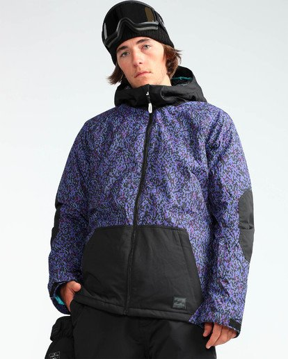5 Men's All Day Solid Outerwear Jacket Purple MSNJQADI Billabong