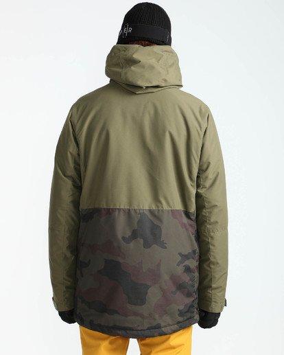 6 Men's Adversary Snow Jacket Camo MSNJQADV Billabong