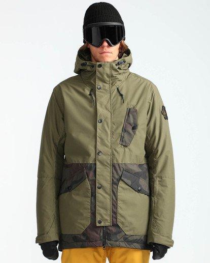 2 Men's Adversary Snow Jacket Camo MSNJQADV Billabong