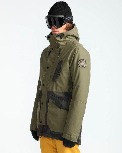 3 Men's Adversary Snow Jacket Camo MSNJQADV Billabong