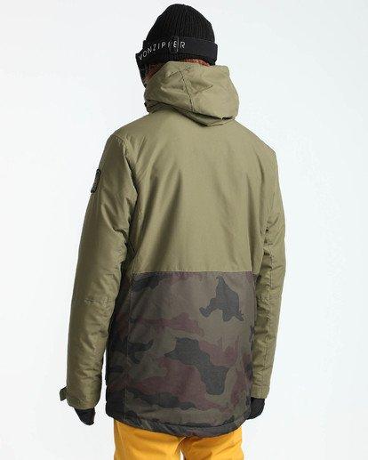 4 Men's Adversary Snow Jacket Camo MSNJQADV Billabong