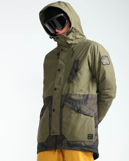 5 Men's Adversary Snow Jacket Camo MSNJQADV Billabong