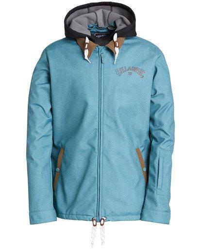 0 Men's Fastplant Outerwear Jacket Blue MSNJQFAS Billabong