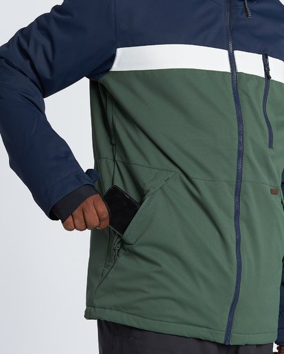 4 All Day Snow Jacket Green MSNJVBAD Billabong