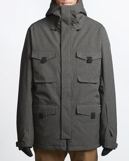 4 Adversary Snow Jacket Grey MSNJVBAY Billabong