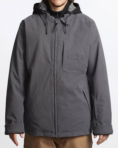 0 Fastplant Snow Jacket Grey MSNJVBFP Billabong