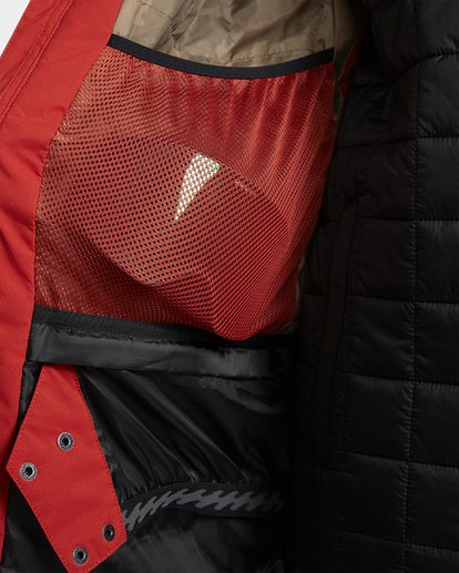 6 Prism Shell Snow Jacket Red MSNJVBPS Billabong
