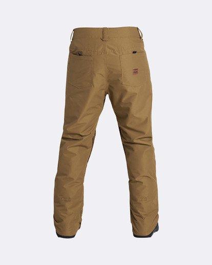 11 Men's Outsider Outerwear Snow Pants Brown MSNPQOUT Billabong