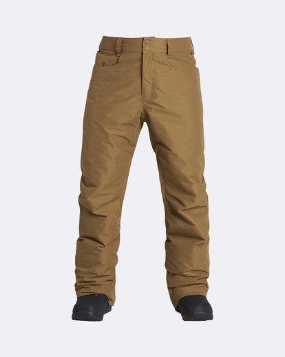 10 Men's Outsider Outerwear Snow Pants Brown MSNPQOUT Billabong