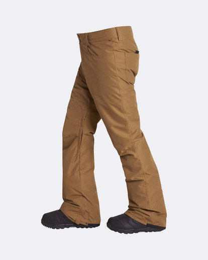 12 Men's Outsider Outerwear Snow Pants Brown MSNPQOUT Billabong