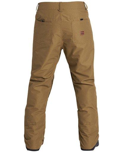 9 Men's Outsider Outerwear Snow Pants Brown MSNPQOUT Billabong