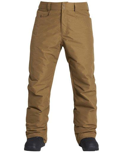 7 Men's Outsider Outerwear Snow Pants Brown MSNPQOUT Billabong
