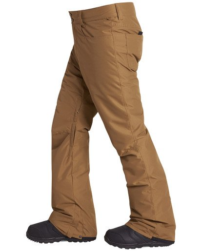 8 Men's Outsider Outerwear Snow Pants Brown MSNPQOUT Billabong