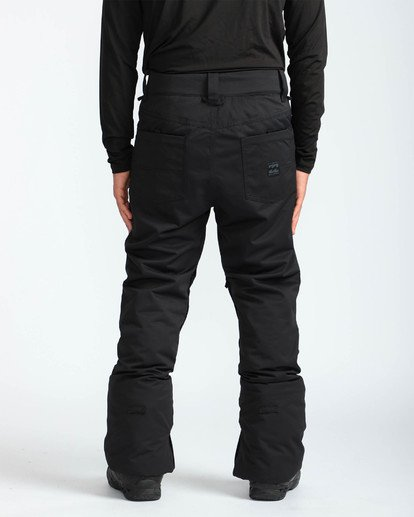 5 Men's Outsider Outerwear Snow Pants Black MSNPQOUT Billabong